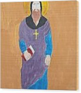 Child's Painting Of Jesus Christ Wood Print