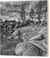 Chimney Beach Lake Tahoe Wood Print