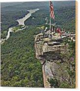 Chimney Rock Overlook Wood Print