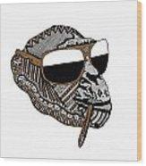 Chimp 2 Wood Print