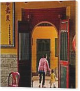 Chinese Temple In Ho Chi Minh Vietnam Wood Print