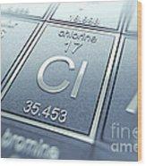 Chlorine Chemical Element Wood Print