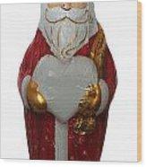 Chocolate Santa Claus Wood Print