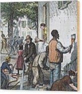 Cholera Epidemic, 1873 Wood Print