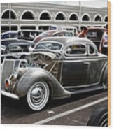 Chopped Ford Coupe Wood Print by Steve McKinzie