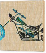 Chopper Art Wood Print