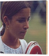 Chris Evert Wood Print by Retro Images Archive