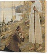 Christ And Mary Magdalene  Wood Print