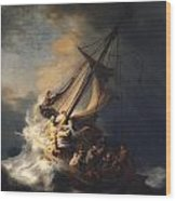 Christ In The Storm On The Sea Of Galilee Wood Print