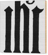 Christian Monogram Wood Print