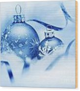 Christmas Balls Decoration Wood Print