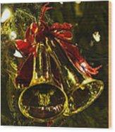 Christmas Bells Ornaments Faneuil Hall Tree Boston Wood Print
