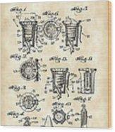 Christmas Bulb Socket Patent 1936 - Vintage Wood Print