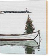 Christmas Dingy Wood Print