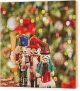 Christmas Figures Wood Print