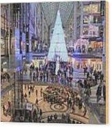 Christmas Shopping In Toronto Wood Print
