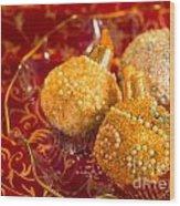Christmasball Cupcakes Wood Print