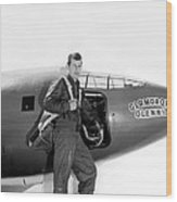 Chuck Yeager And Bell X-1 Wood Print