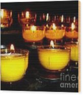 Church Candles Wood Print