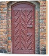Church Door 02 Wood Print by Antony McAulay