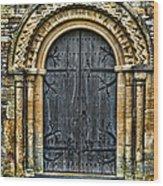 Church Door Wood Print