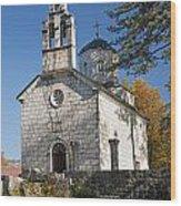 Church In Cetinje Montenegro Wood Print