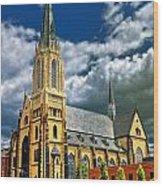 Church In St. Louis Wood Print