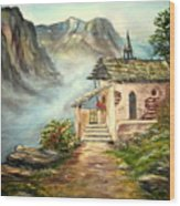 Church in the Alps Wood Print