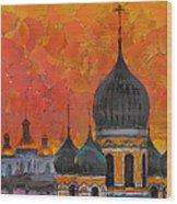 Church Sunset Wood Print