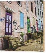 Cincinnati Glencoe-auburn Row Houses Picture Wood Print