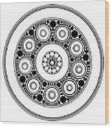Circle Motif 138 Wood Print