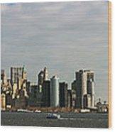 City At The Waterfront, New York City Wood Print