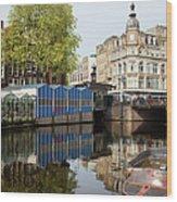 City Of Amsterdam Cityscape Wood Print