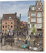 City Of Amsterdam In Netherlands Wood Print