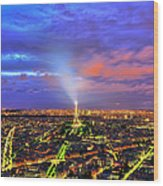City Of Lights Wood Print