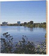 City Of Melbourne On The Intracoastal Waterway In Central Florid Wood Print