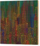 Cityscape 5 Wood Print by Jack Zulli
