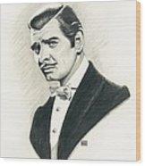 Clark Gable Wood Print