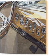 Classic Car Interior Wood Print