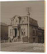 Clay And Hyde Street's San Francisco Built In 1874 Burned In The 1906 Fire Wood Print