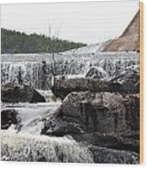 Clayton Lake Spillway Wood Print