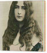 Cleo De Merode (1875 - 1966), French Wood Print