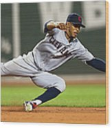 Cleveland Indians V Boston Red Sox 1 Wood Print