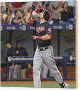 Cleveland Indians V Tampa Bay Rays Wood Print