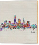 Cleveland Ohio Skyline Wood Print