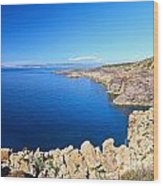 cliff in San Pietro Island Wood Print