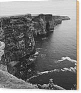 Cliffs Of Moher County Clare Ireland Wood Print