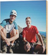 Climbing Foley Peak Wood Print
