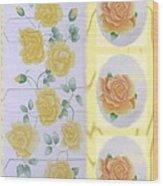 Climbing Yellow Roses Wood Print