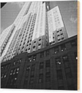 Close In Shot Of The Empire State Building New York City Wood Print